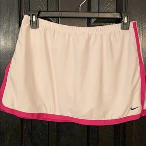Nike white athletic skort large